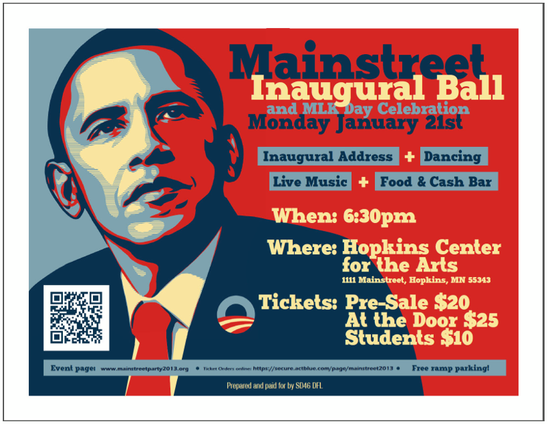 Obama Inauguration and MLK Day poster
