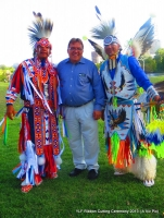 Senator John Hoffman w/Native Pride Arts dancers Larry Yazzie + brother!