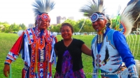 Viv w/Native Pride Arts dancers Larry Yazzie + brother!