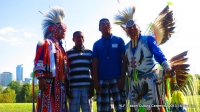 YLF Guests w/Native Pride Arts dancers Larry Yazzie + brother!